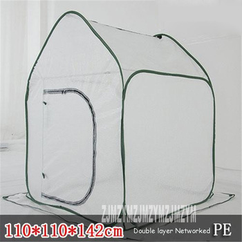 Foldable Flowers Greenhouse Tent PE Domestic Material Greenhouse For Mini Greenhouse Plants,Easy assemble and dismantle Secure