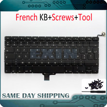 "Nueva computadora portátil teclado francés Azerty para Apple Macbook Pro 13 ""13,3"" A1278 Unibody MC700 MC724 2009 de 2010 a 2011 2012 año 2013(China)"