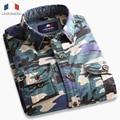 Langmeng Outwear Mens Long Sleeve Casual Camouflage Shirt Men 100% Cotton Battle Fatigues Matching 5 Colors Free Shipping
