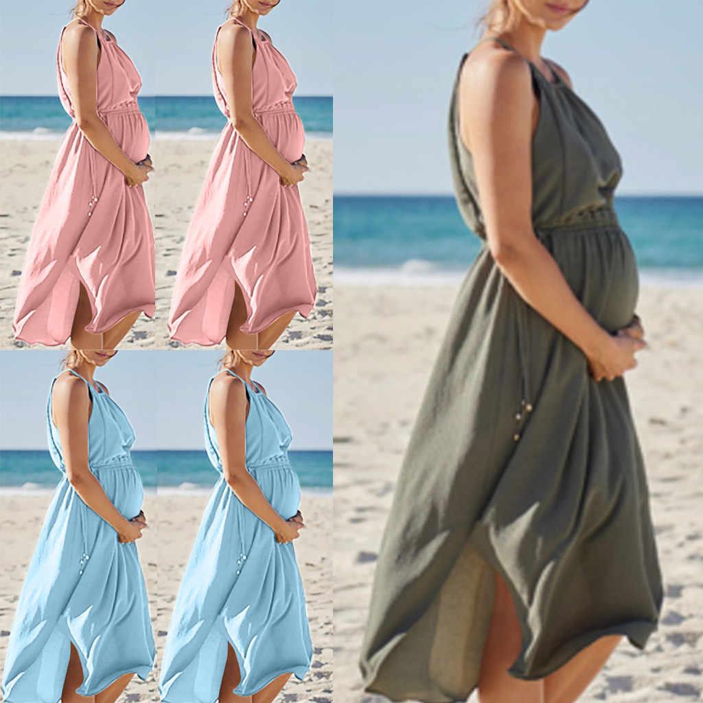 Women Maternity Dresses Summer Chiffon Casual Beach Pink Nursing Dress Breastfeeding Pregnant Clothes Vedtidos Para Mujer 19Apr8