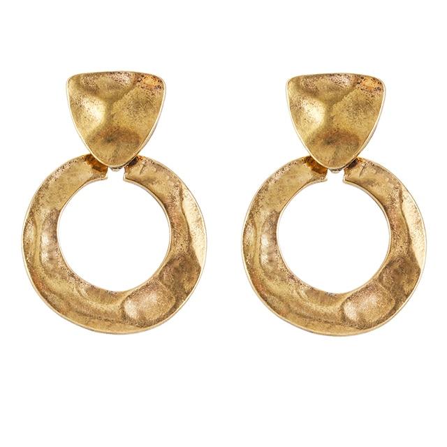 Fashion Design Metal geometry Drop Earrings Jewelry Hot Sale Statement Vintage M