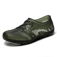 2019 Nova Vadear Sandálias Sapatos Buraco dos homens Sandálias E Chinelos Sapatos masculinos de Grande Porte Sippers Praia Sandálias Dos Homens sandalet