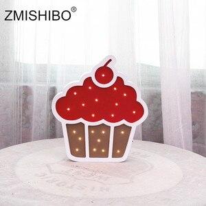 Image 5 - ZMISHIBO Eye catching Night Light Girl Style Castle Cake Car Rainbow Children Lamps Kids Baby Bedroom Home Decorative Lighting