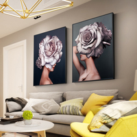 Abstract Floral Canvas 4