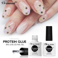 Vrenmol, 8 мл,, новейший прозрачный Перманентный Гель-лак для ногтей молочного белка, семичный цвет, УФ-гель, замачиваемый, лак для ногтей, сделай сам, Гель-лак