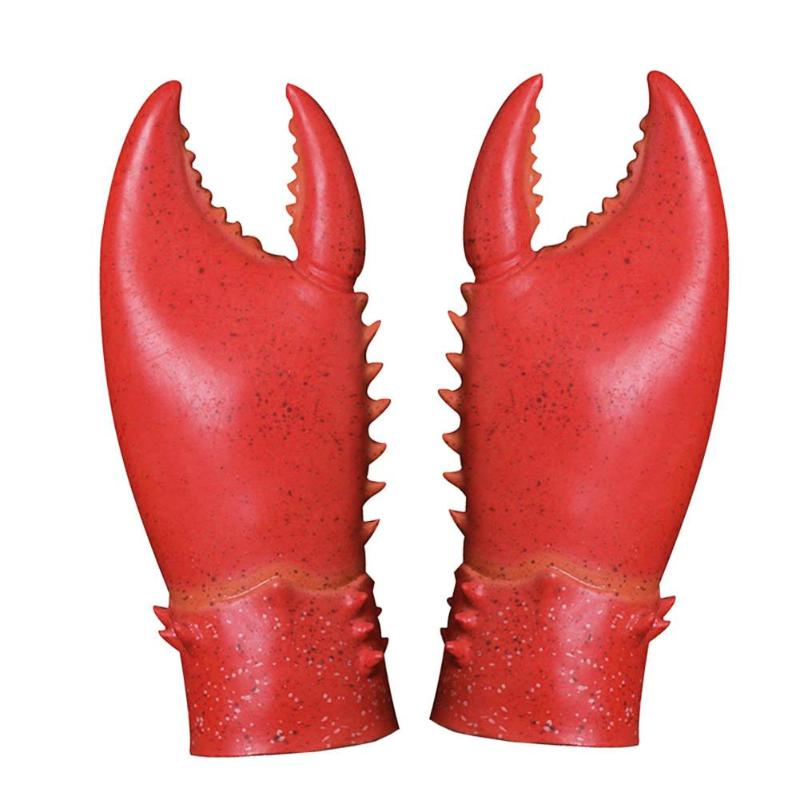 1 Pair Crab Lobster Claws Gloves Cosplay Funny Party Latex Novelty Toy Kids Adult Party Gags Toy