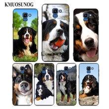 For Samsung Galaxy j8 j7 j6 j5 j4 j3 Plus Prime 2018 2017 2016 Black Silicone Phone Case Animal Bernese Mountain Dog Style