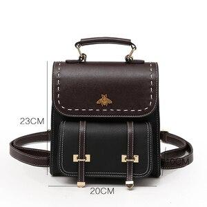 Image 2 - Youda กระเป๋าเป้สะพายหลังผู้หญิงสีการจับคู่วัสดุ PU กระเป๋านักเรียน MINI อเนกประสงค์สุภาพสตรีกระเป๋าเป้สะพายหลังแฟชั่นกระเป๋าไหล่