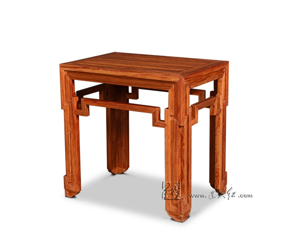 Small Tea Coffee Table Redwood Living Room Furniture Rectangle Wooden Low Desks Home Console Stand New Classical Chinese Antique stools with chi design living room low console table burma rosewood chinese classical antique furniture solid wood square bench