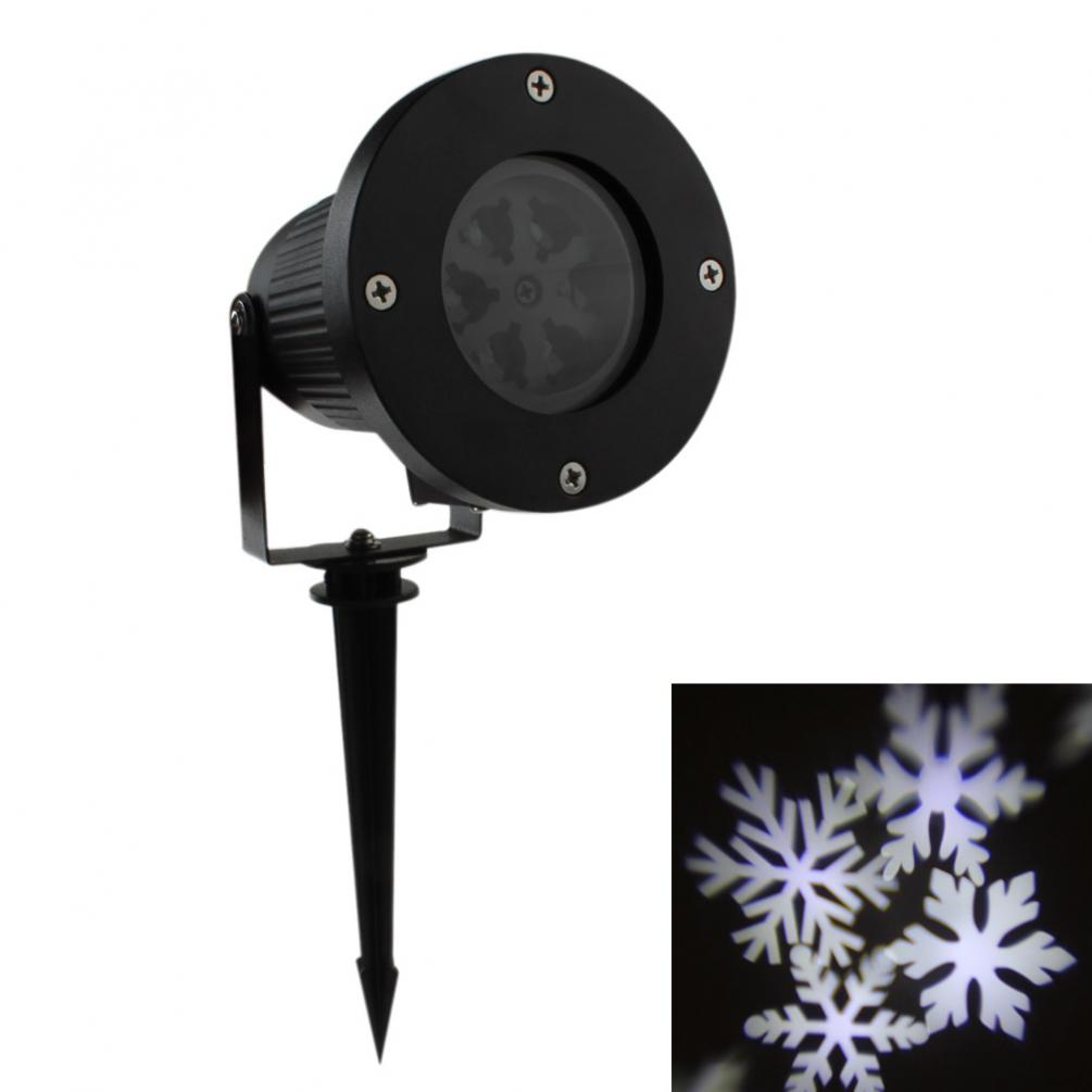 New Outdoor Waterproof Garden Tree Moving Snow Laser Projector Snowflake LED Stage Light Christmas Lights