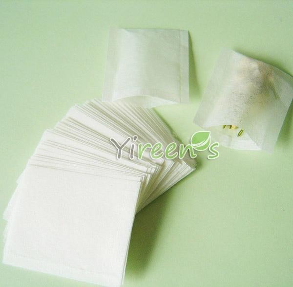 1000pcs 50 X 60mm Empty tea bags, Heat sealing tea filters, food-grade Filter paper bag, Herb/Plant/ spice/Medicine powder bags