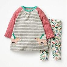 Little maven 2-7Years Осень Животных Малышей Дети Девочка детская Одежда Осень Комплект Девочек Бутик Наряды Комплекты Одежда Для Ребенка