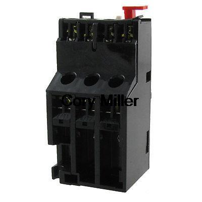Manual Reset Motor Protection 3 Poles Thermal Overload Relay 4-6A Amps 2 pin thermal overload protection