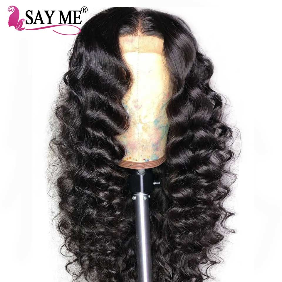 Loose Deep Wave Wig Brazilian Lace Front Human Hair Wigs Pre Plucked With Bleached Knots Virgin Hair Wigs For Black Women 150%