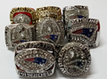 8pcs per set 1985 1996 2001 2003 2004 2007 2011 2014 New England Patriots football championship rings set replica