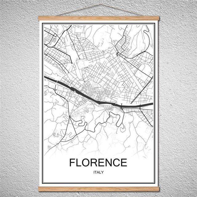 Us Map Picture Frame.Modern Poster Florence World City Map With Frame Canvas Abstract