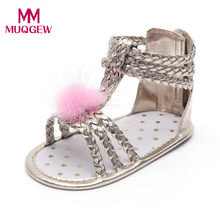 b6b5836009334 MUQGEW bébé mignon enfants fourrure sandales or sandales pour filles bébé  chaussures filles en cuir d été fille bébé sandales en.