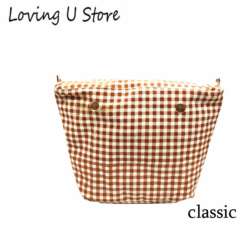 1 pcs canvas waterproof insert for classic size for obag new colorful cartoon floral insert lining for o chic ochic canvas waterproof inner pocket for obag women handbag