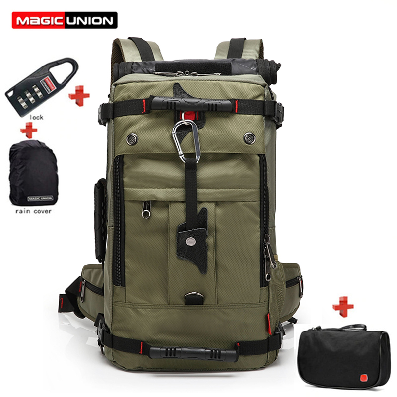 MAGIC UNION New Oxford Backpack <font><b>20</b></font> <font><b>Inch</b></font> <font><b>Laptop</b></font> <font><b>Bag</b></font> Set Men Waterproof Travel Rucksack Female Mountaineering Shoulder <font><b>Bag</b></font> mochila image
