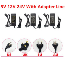 AC DC 5V 12V 24V Power Supply 2A 3A 5A 6A Adapter 5 12 24 V adapter 220V to Lighting Transformers