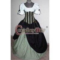 중세 멋진 드레스 신비한 메이든 빅토리아 성인 여성 할로윈 의상 사용자 정의 만든 D0702
