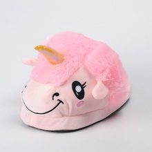 Lovely Christmas Easter Gifts Plush Couple Shoes Cartoon Unisex Unicorn Slippers for Women Winter Thick Indoor
