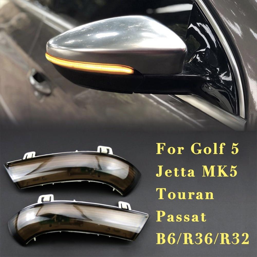 Dynamic turn signal led Rearview mirror car running lights For VW GOLF 5 GTI Jetta MK5