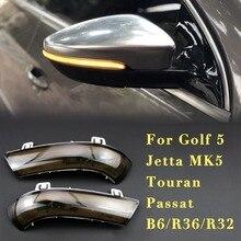 купить Dynamic turn signal led Rearview mirror car running lights For VW GOLF 5 GTI Jetta MK5 Passat B6 B5.5 3C Sharan Golf plus 6 EOS дешево