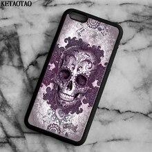 Ketaotao 2018 Новый сахарный череп Телефонные чехлы для iphone 4S 5C 5S 6 6 S 7 8 Plus X для Samsung s5 6 7 8 Чехол Мягкий ТПУ Резиновая силиконовые