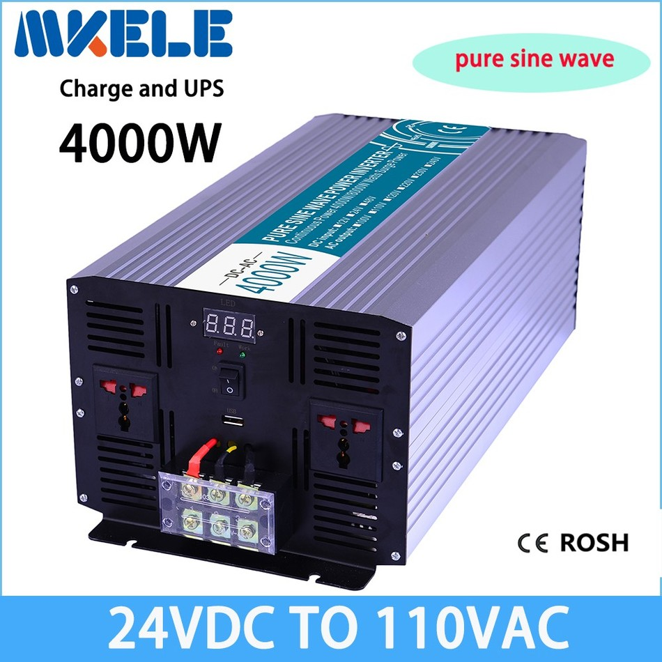 цена на MKP4000-241-C 24v to 110vac 4000w  inverter pure sine wave off grid solar inverter voltage converter with charger