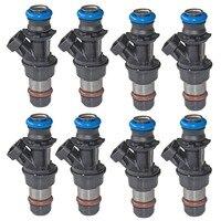 8 Pcs Fuel Injector Nozzle 17113553 for Chevrolet Silverado 4.8L 5.3L 6.0L FJ315 For CADILLAC ESCALADE Pressure 28LBS