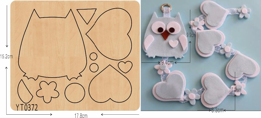 Home Decoration Accessories  Owl   Wooden Die   Cutting  For Scrapbooking  15.8mm/ /YT0372