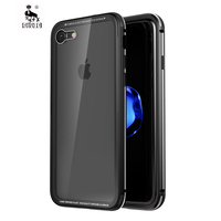 For Apple Iphone 7 Case Luxury 7plus Original Metal Clear Tempered Glass 2 In 1 Shockproof