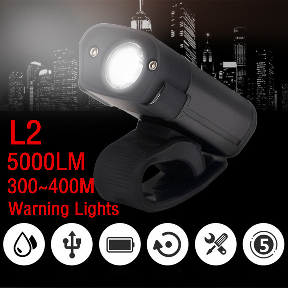 New 5000LM L2 LED Cycling Bike Bicycle Head Light Flashlight warning lights 5 Modes Torc ...