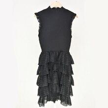 Kenvy бренд высокого класса люкс новые летние Для женщин с рукавом-бабочкой тонкие платья трикотажные