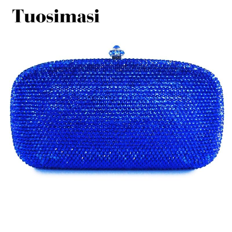Dazzling plain blue hard case clutch bag wholesale rhinestone clutch bag lole платье lsw2254 luisa dress m dazzling blue heather