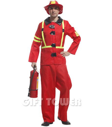 halloween cosplay costumes fireman clothing men performance clothes police uniform party suit clothing dress disfraces gt334 - Fireman Halloween