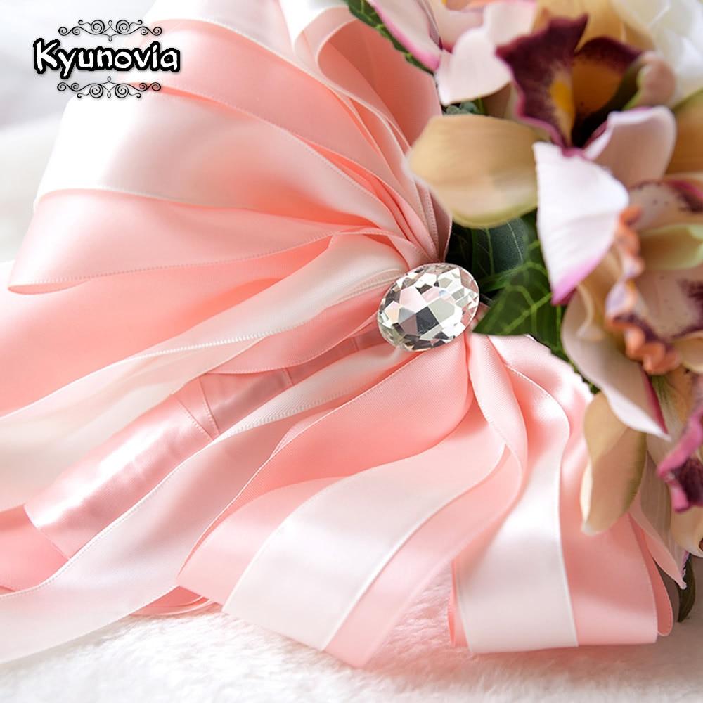Kyunovia коприна сватбен букет цветя - Сватбени аксесоари - Снимка 4