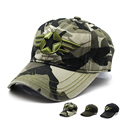 100% Cotton Men Pentagram Cap Tactical Baseball Caps Camouflage Hunting Fishing Hat Outdoor Camo Baseball Hats Adjustable