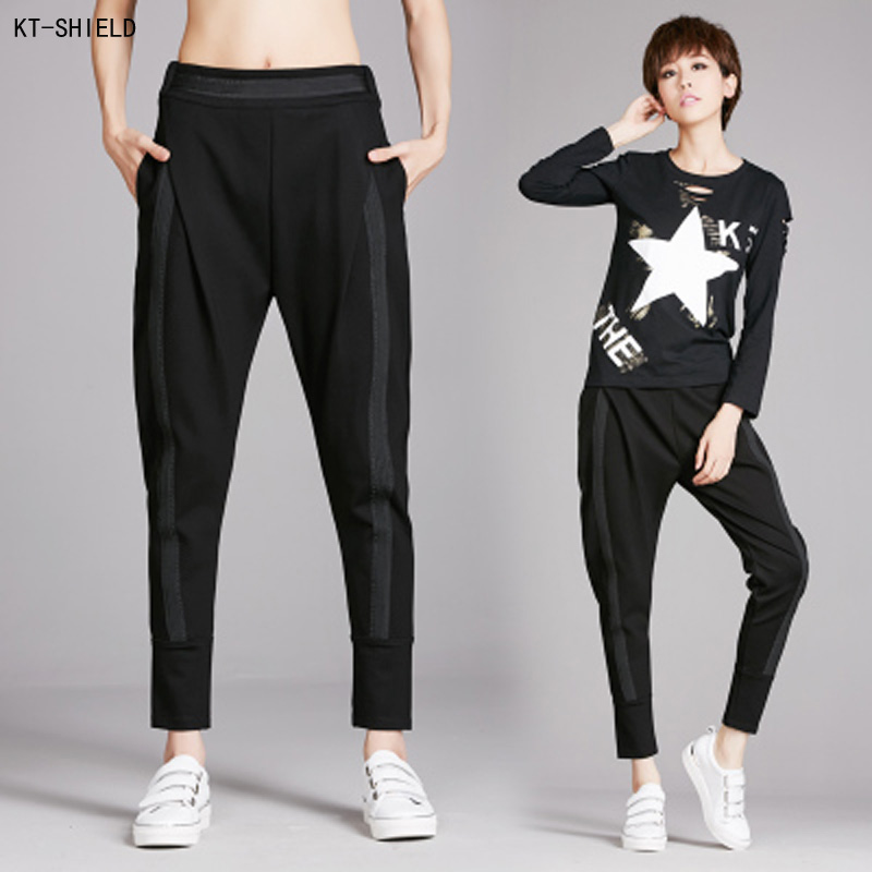 New Women Joggers Pants Fashion Loose Elastic Harem pants Solid Color Sexy Female Trousers Leggings Pantalones Mujer Plus size