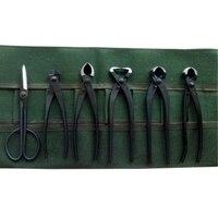 High Quality 6Pcs/set Beginner Bonsai tool kit Branch Cutter Knob Cutter scissors with bag