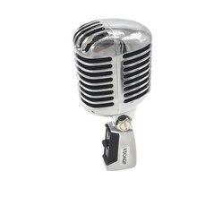 KSOAQP Metal kabuk gövde için 55SH II profesyonel dinamik mikrofon vokal klasik Vintage tarzı mikrofon 55 SH serisi II