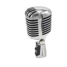 Ksoaqp corpo escudo de metal para 55sh ii microfone dinâmico profissional vocal clássico estilo vintage microfone 55 sh série ii