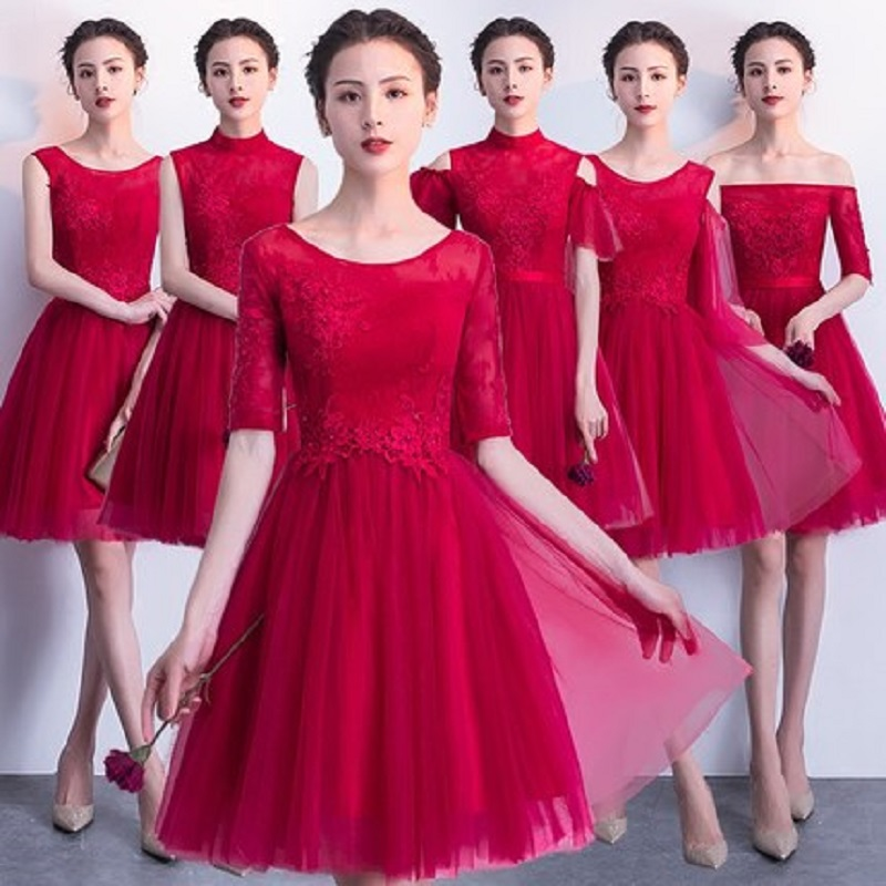2018 new stock plus size women pregnant bridesmaid dresses wedding party A  line lace backless sexy 53b310a0d7aa