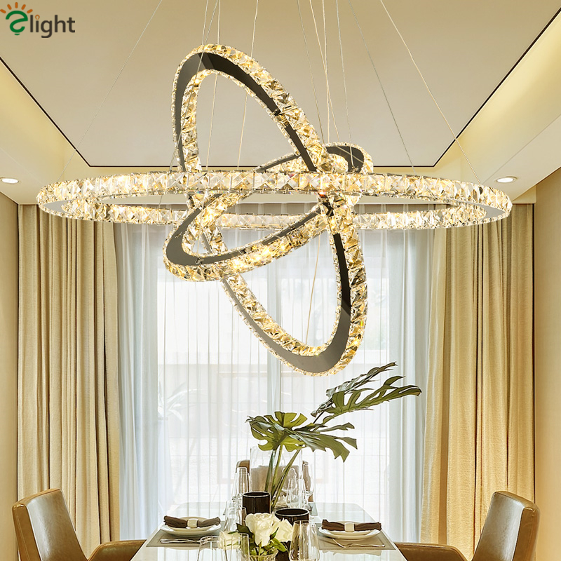 Dining Room Modern Lustre Cristal Pendant Chandelier Luminarie Led Suspend Chandelier Hanging Lamp Indoor Lighting Lamparas free shipping l100cm w20cm h150cm crystal chandelier modern living room kroonluchter lamparas de cristal led pendant lighting