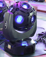 Новый DJ Light 12 LED Средства ухода для век RGBW Перемещение головы луч света Magic Ball вращающийся диско бар огни Ночной клуб Stage освещения