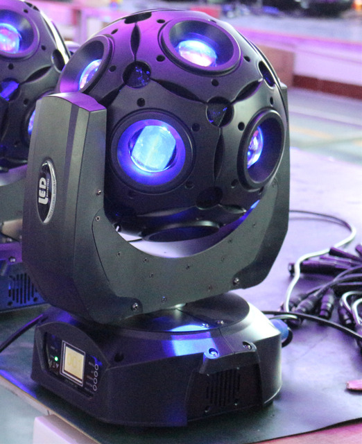 New Dj Light 12 Led Eyes Rgbw Moving Head Beam Light Magic
