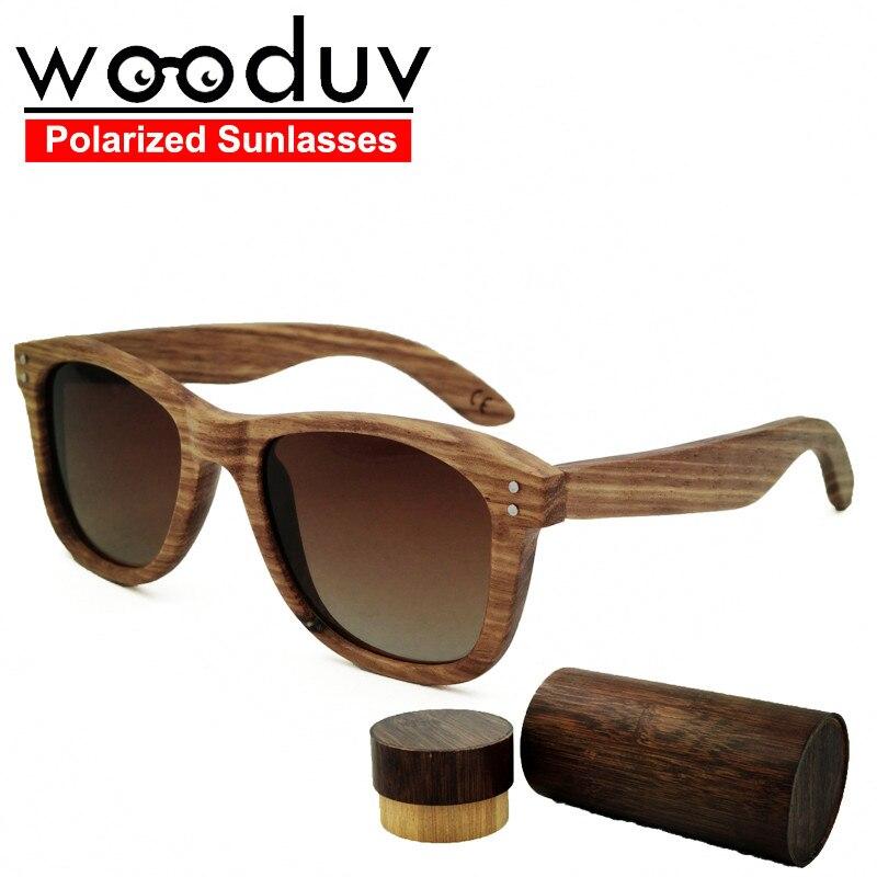 710bded2859 2017 New Wooden Bamboo Handmade Glasses UV Polarized lenses Brown mens  sunglasses gold wood glasses frames retro lunette