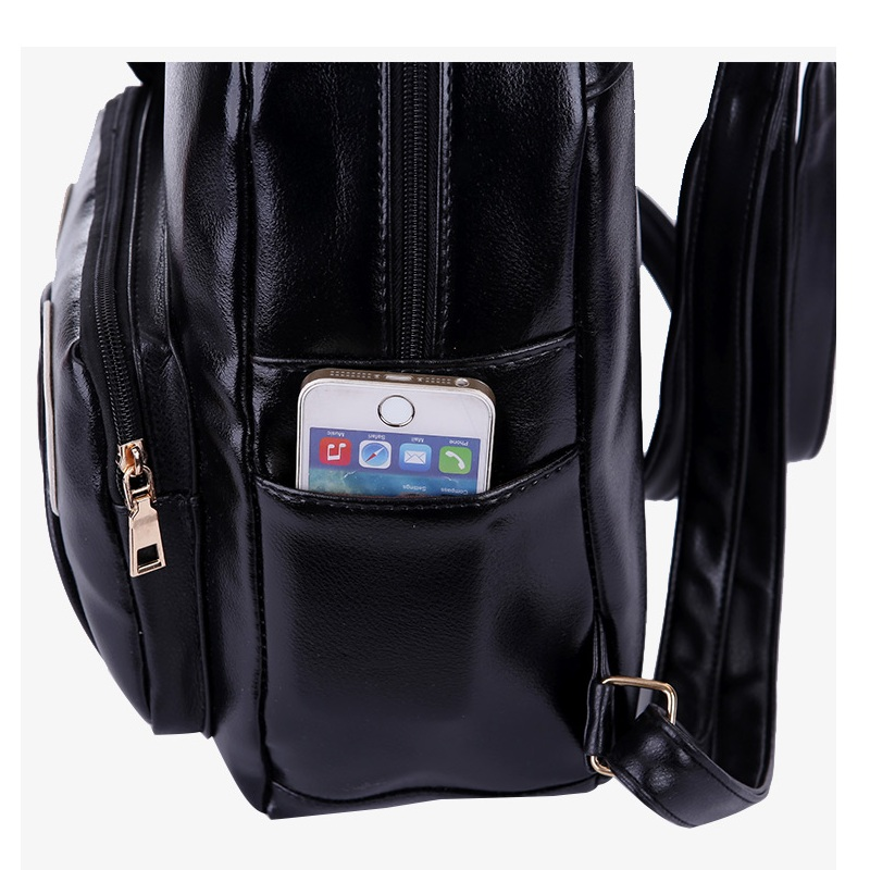 Aliexpress.com : Buy Fashion Women PU Leather Panda Backpack ...