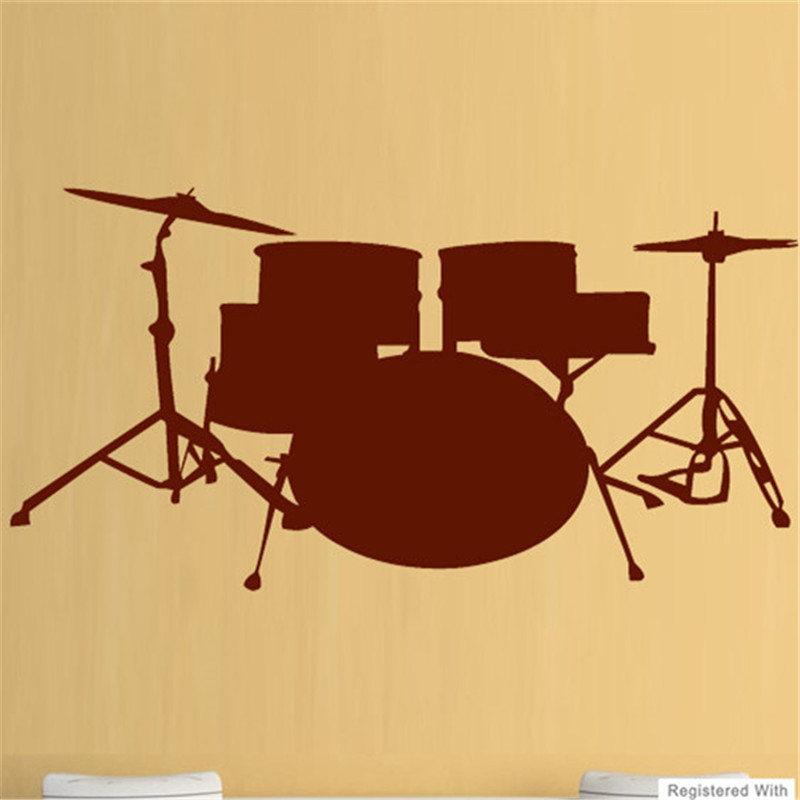 G356 Drums Music Rock Band Wall Art Stickers Decals Vinyl Decor Room ...